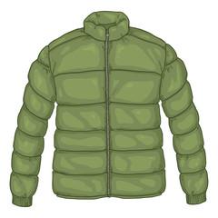Vector Cartoon Khaki Down Jacket