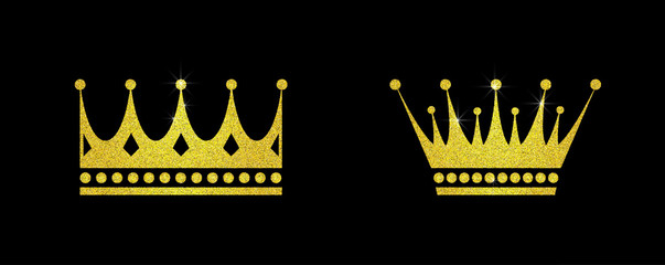 Gold glitter crown set iers set of king crowns