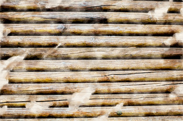 background of brown wooden fence