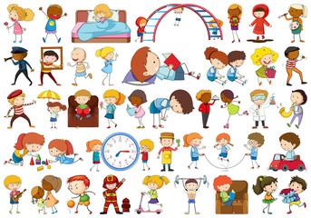 Set of simple kids