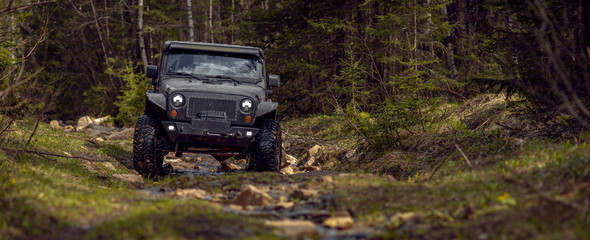 off-road extreme expedition on black SUV