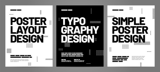 Fototapeta Simple template design with typography for poster, flyer or cover. obraz