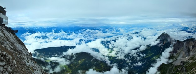 Austrian Alps-panoramic outlook of the Alps from Dachstein
