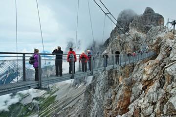 Austrian Alps-outlook of the footbridge to Dachstein