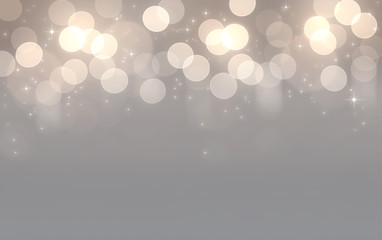 Abstract silver and gold bokeh background