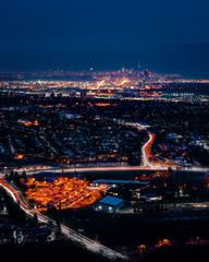 the sprawling city has many lights