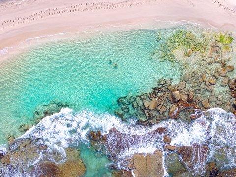 Aerial photo of shore