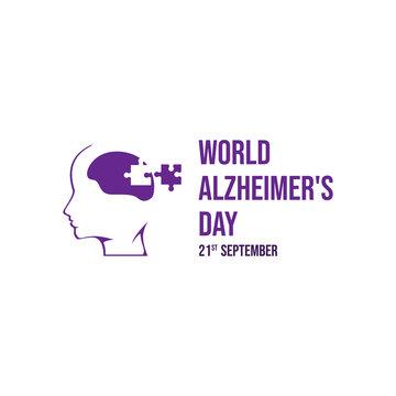 World Alzheimer's Day vector icon illustration