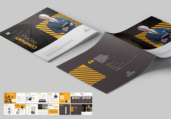 Company Profile Brochure Layout with Orange Accents