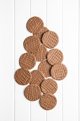 Sweet chocolate biscuits. Chocolate cookies.