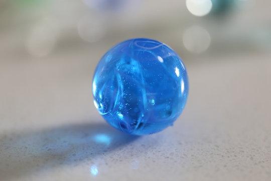 vintage toy cobalt blue marble balls