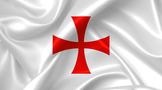 knights templar cross flag
