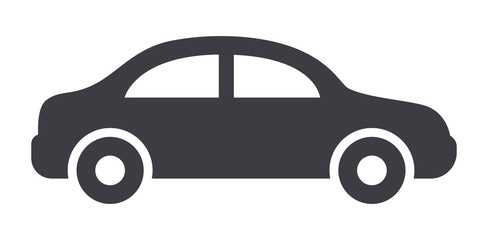 Car sideview symbol icon
