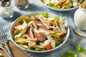 Wall Mural - Homemade Pittsburgh Salad with Steak