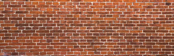 Poster Brick wall old red brick wall background