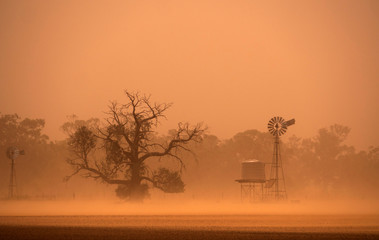 Outback Australia dust storm