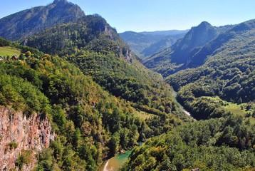 Spoed Foto op Canvas Khaki view of mountains
