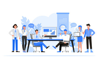 Business people character vector design. Business Companies concept.