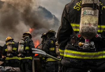 Firefighting in the mountains