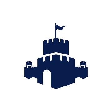 Creative Castle fortress logo vector design icon template