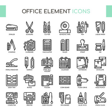 Office Element , Thin Line and Pixel Perfect Icons