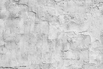Fotobehang Oude vuile getextureerde muur white and gray textured plaster on the wall
