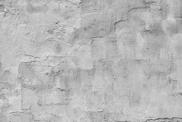 Poster de jardin Vieux mur texturé sale white and gray textured plaster on the wall