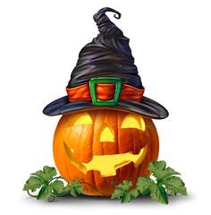 Halloween Pumpkin Witch Object