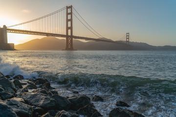 Fort Mason, Golden Gate bridge, San Francisco California