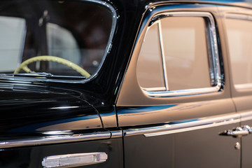 Moscow, Russia - September, 5, 2019: Vintage car close up