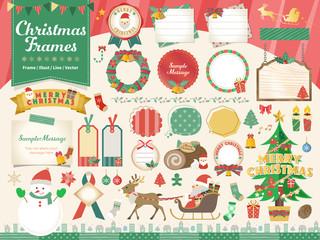 クリスマスフレームイラストセット