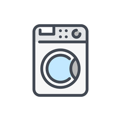 Washing machine color line icon. Washer vector outline colorful sign.