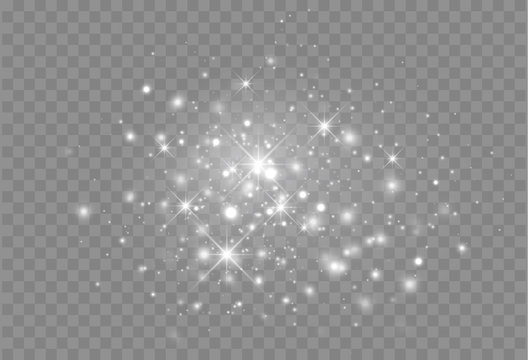 Glowing light particles. Vector Magic decoration