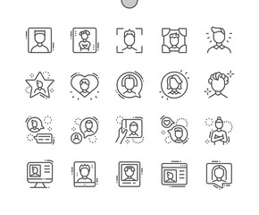 Man avatar Well-crafted Pixel Perfect Vector Thin Line Icons 30 2x Grid for Web Graphics and Apps. Simple Minimal Pictogram