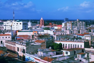 Wall Mural - Cuba - Camaguey city. Vintage filtered colors tone.