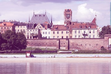 Wall Mural - Poland - Torun. Filtered vintage color style.