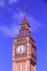 Wall Mural - Big Ben in London. Filtered retro color style.