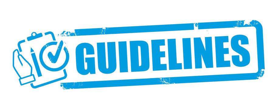Stamp Guideline Vector Illustration Concept