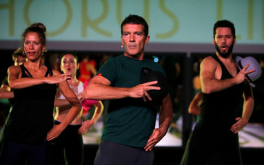 "Spanish actor Antonio Banderas presents the musical project ""A Chorus Line"" in his hometown Malaga"