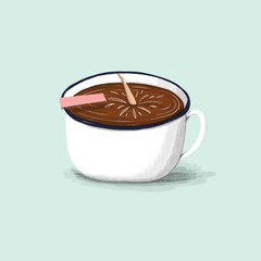 Diving into a cup of coffee!