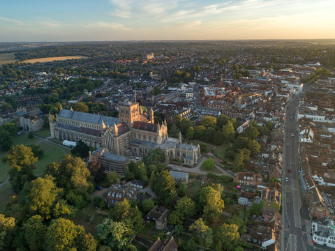 St Albans City UK in the Early Morning