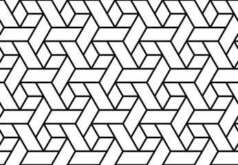 Foto op Canvas Geometrisch The geometric pattern with lines. Seamless vector background. White and black texture. Graphic modern pattern. Simple lattice graphic design