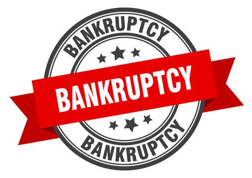 bankruptcy label. bankruptcy red band sign. bankruptcy