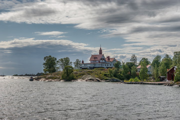 Small islands in the archipelago south of Helsinki, capital of Finland