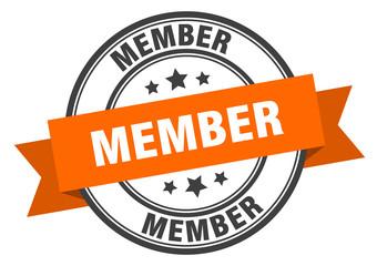member label. member orange band sign. member