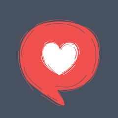 Heart in speech bubble