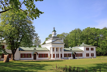 Oginsky palace and park complex near Smorgon in Belarus