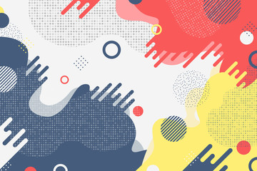Abstract colorful business tone of minimal color shapes decoration. illustration vector eps10