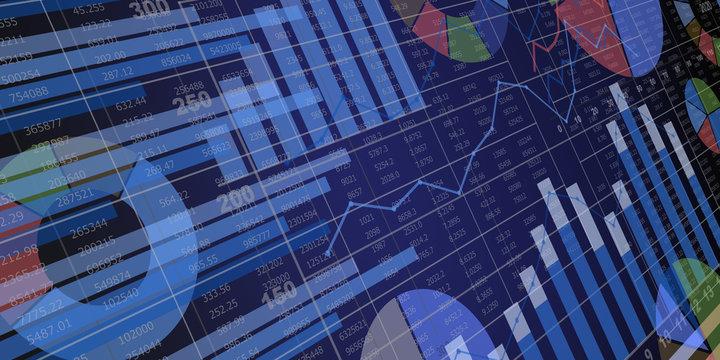 様々なグラフのビジネス資料