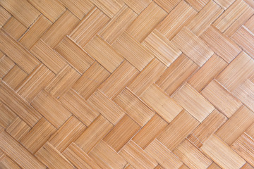 Bamboo woven pattern (handicrafts bamboo reflect culture, creativity and wisdom of the people)use for pattern background.